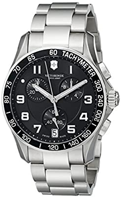 Victorinox Men's 241494 Chrono Classic Analog Display Swiss Quartz Silver-Tone Watch