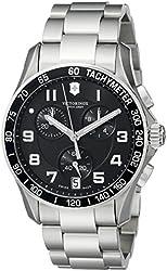 Victorinox Men's 241494 Chrono Classic Analog Display Swiss Quartz Silver-Tone Watch