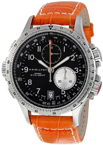 "Hamilton Men's 汉密尔顿 ""Khaki Field"" Stainless Steel Chronograph Watch"