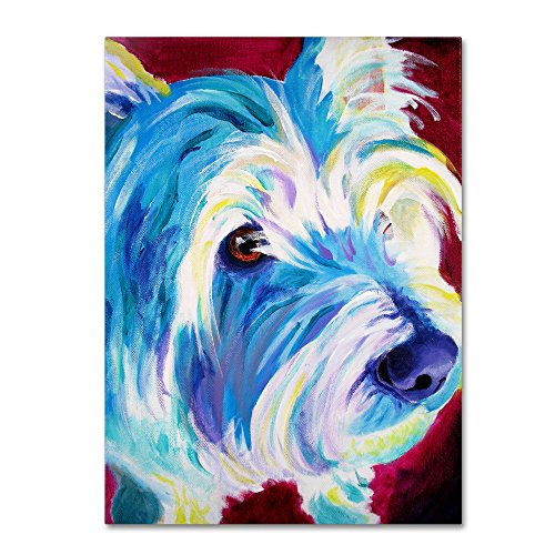 Westie Artwork by DawgArt, 18 by 24-Inch Canvas Wall Art ()