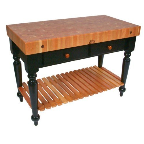 Rectangular Table in Cherry End Grain Top (48 in. x 24 in.) by John Boos