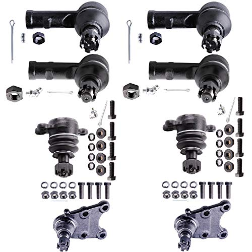 OCPTY - New 8-Piece fit for 1994-1995 Honda Passport Isuzu Amigo Pickup Rodeo 2WD/4WD-2 Inner 2 Outer Tie Rod End 2 Upper 2 Lower Ball Joint