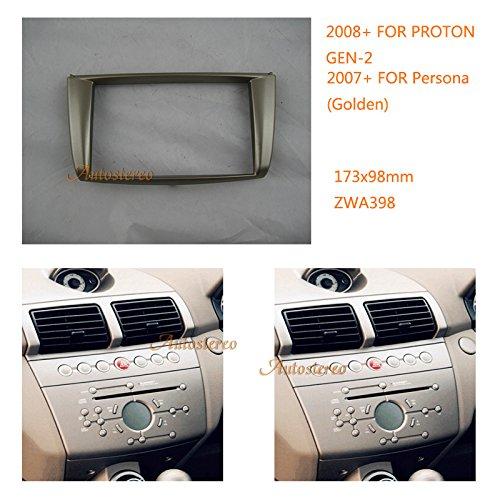 ZWNAV Stereo Fascia Dash CD Trim Installation Kit Car Stereo Car Radio fascia for GEN-2 2008+ Persona 2007+ Golden Stereo Face Facia Fascia:
