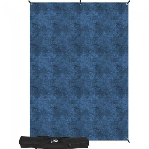 Westcott 5 x 7' Slate Blue X-Drop Backdrop Kit, with X-Drop Stand and Travel Case by Westcott