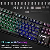 NPET K10 Gaming Keyboard USB Wired Floating