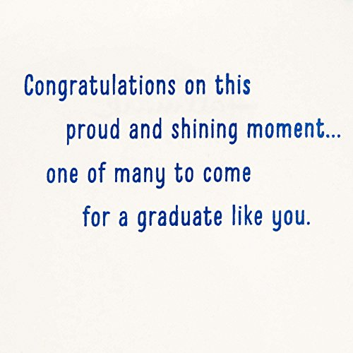 Hallmark Graduation Greeting Card with Removable Bookmark (Let your Dreams Light Your Way) Photo #5