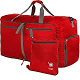 bago Travel Duffle Bag Women & Men - Foldable Duffel Bags Luggage Gym Sports (Large 27'',Red)