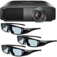 Panasonic PT-AE8000U 1080p Full HD 3D Home Theater Projector + 3 Pairs of Panasonic 3D Glasses DavisMax Bundle