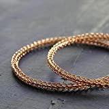 Hoop Earrings for Women - Extra Large Rose Gold Hoop Earring - Rose Gold Earrings