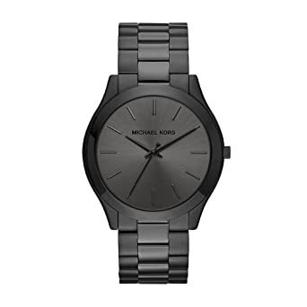 a3b291f9d2 Amazon.com  Michael Kors Men s Slim Runway Black Watch MK8507  Watches