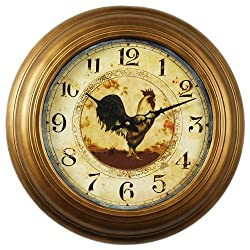 Ashton Sutton Wall Clock, Rooster Dial