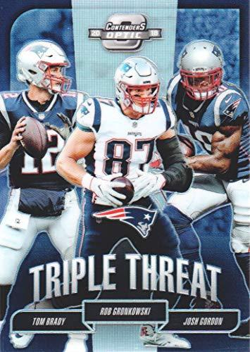 Tt Football New - 2018 Panini Contenders Optic Football Triple Threat #TT-NEP New England Patriots 087/175
