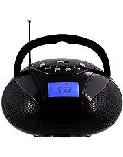 Radio FM con Alarma Despertador August SE20 Mini Altavoz Bluetooth Inalámbrico Estéreo con Lector de Tarjetas Puerto USB y AUX Altavoz 2 x 3W