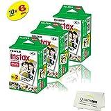Fujifilm INSTAX Mini Instant Film 6 Pack = 60 SHEETS (White) For Fujifilm Mini 8 and Mini 9 Cameras