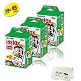 Fujifilm INSTAX Mini Instant Film 6 Pack 60 SHEETS (White) For Fujifilm Mini 8 and Mini 9 Cameras