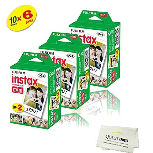Fujifilm INSTAX Mini Instant Film 6 Pack =  60 SHEETS (White) For Fujifilm Mini 8 and Mini 9 Cameras by Fujifilm