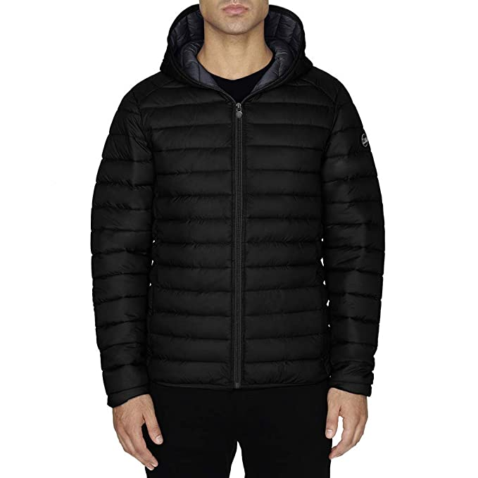 Chaqueta Hombre TWIG Ultralight Jacket 100gr Ultra Ligera Abrigo Parka Capucha Black (XXL)