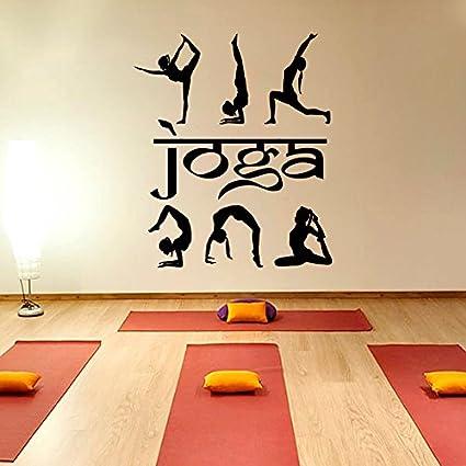 Amazon.com: Susie85Electra Yoga Wall Decal Vinyl Sticker ...