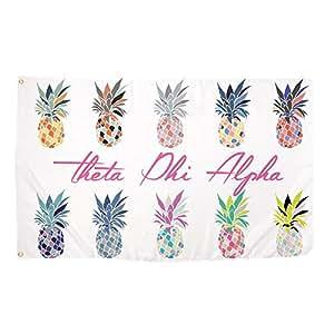 Theta Phi Alpha arte Pop Piña Sorority bandera griega carta uso como un banner grande 3x 5pies