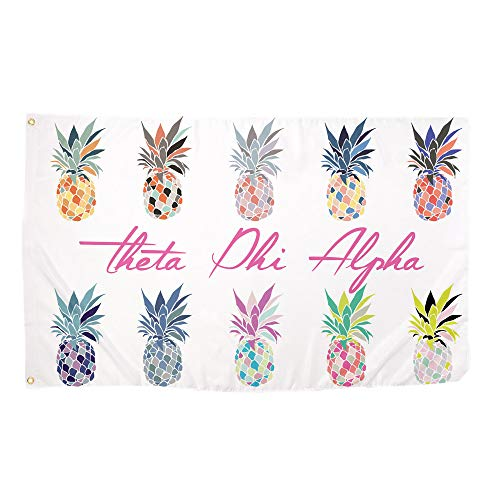Desert Cactus Theta Phi Alpha Pop Art Pineapple Sorority Flag Greek Letter Use as a Banner 3 x 5 Feet Sign Decor