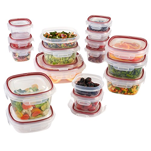 Rubbermaid Easy Find Lids Lock-its Food Storage Container, BPA-free Plastic, 34-piece Set (1882084)
