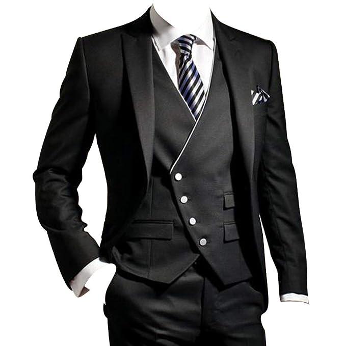 Amazon.com: HBDesign Groomsman - Traje de moda para hombre ...