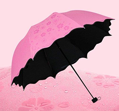 Perfect compra Cúpula Sombrilla sun-rain paraguas, Triple plegable, anti-UV sombrilla - resistente, portátil y ligero para fácil transporte: Amazon.es: ...