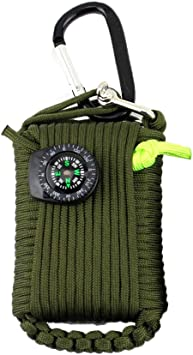 NaiCasy 29 en 1 Equipo al Aire Libre de la Supervivencia Sos Kit Caja de Primeros Auxilios Suministros Campo de autoayuda Caja de Pesca al Kit de Viaje Bolsa Verde Militar: Amazon.es:
