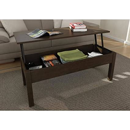 Rectangle Lift Top Coffee Table With Storage 4