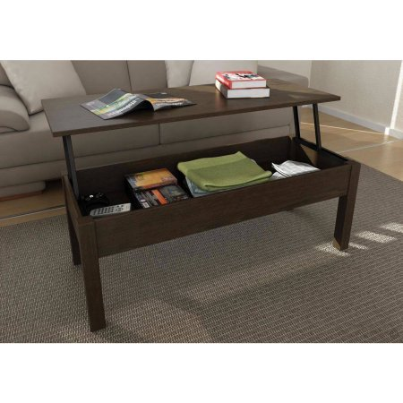 Mainstays Lift-Top Coffee Table // Color: Espresso At A Glance
