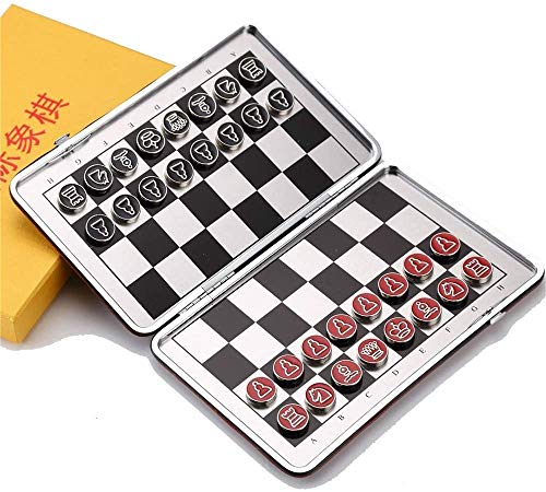 Hammer Ajedrez, Mini ajedrez magnético, Plegable Juego de ajedrez, alojamiento de imán Viajes, Metal del Acero…