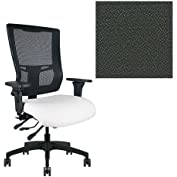 Office Master Affirm Collection AF578 Ergonomic Executive High Back Chair - KR-465 Armrests - Black Mesh Back...