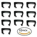 QIQIHOME Pack of 10 Patio Rattan Wicker Furniture Sectional Sofa Chair Alignment Fasteners Clips Sofa Clip Alignment Fasteners Clip Sectional Connector for Rattan Furniture Garden Sofa (MEDIUM)