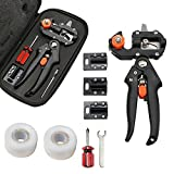 Grafting Tool,Garden Pruning Pruner Kit Set with 2 Grafting Tape and 3 Blades Professional Scissors Shear for Plant Branch Twig Vine Fruit Tree Graft Cutting
