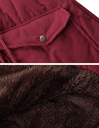Cappotto Invernale Rosso Iclosam Donna Inverno Piumino FwwvI