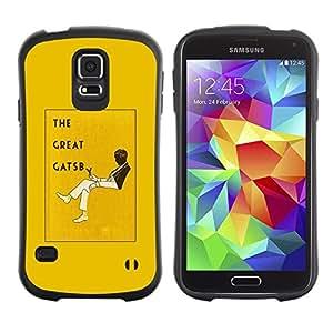 """Hypernova Slim Fit Dual Barniz Protector Caso Case Funda Para Samsung Galaxy S5 [El gran Gatsby Libro Amarillo Cubierta Leer""""]"""