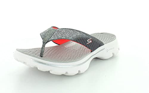 c567a88f3 Skechers Women s Performance Go Walk Pizazz Flip-Flop Gypk - Gray Pink 9 B