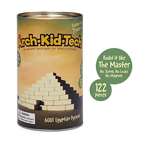 Taksa Toys Arch•Kid•Tech Egyptian Pyramid - Architectural Building Blocks Set for Learning History and Ancient Building Techniques