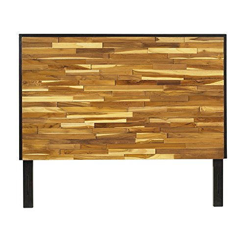 Padma's Plantataion Reclaimed Wood Headboard, Queen (Plantation Teak Frame)