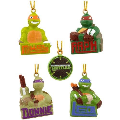 TMNT Kurt Adler 5-Piece Teenage Mutant Ninja Turtles Ornament Set, Mini 5 Pack Mini Ornaments