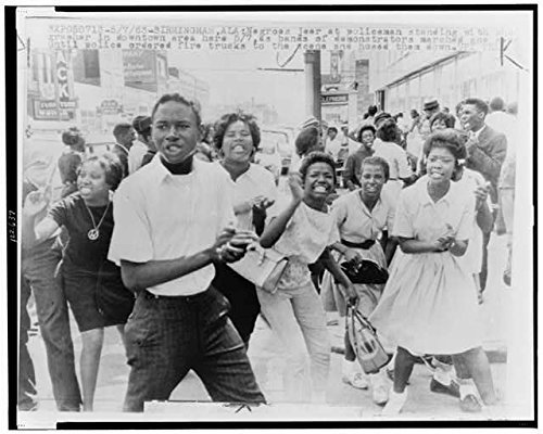 Photo: African American Demonstrators march in Downtown,Birmingham,Alabama,AL,1963