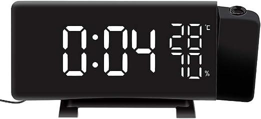 GGDGENJN Ts-5210 Tres De Color Digital Despertador Proyector, con ...