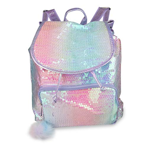 - FACE1ST White Color Changing Pink Sequin School Backpack, Lightweight Sparkly Back Pack for Girls (Cotton Candy (Sequin))
