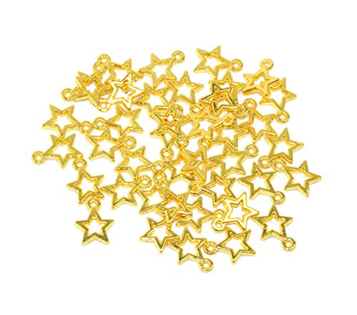 - Yansanido Alloy Antique Stars Cute Charms Pendants for Making Bracelet and Necklace (Stars 50pcs Gold)