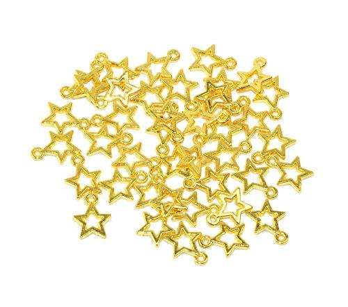 (Yansanido Alloy Antique Stars Cute Charms Pendants for Making Bracelet and Necklace (Stars 50pcs)