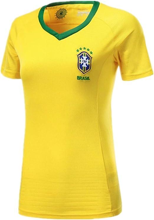 DLpf Mujeres, 2018 Argentina Alemania España Brasil Francia México Fútbol, M, Brasil Camiseta Local: Amazon.es: Hogar