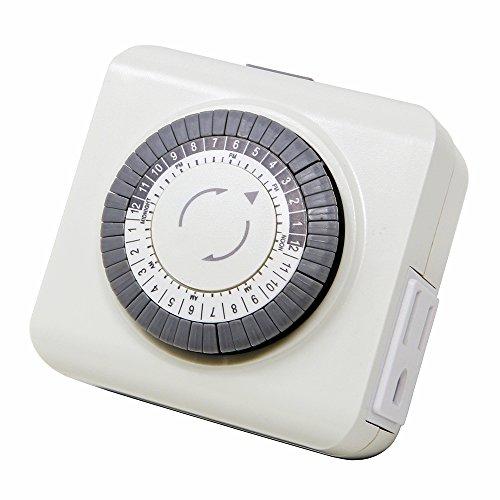 Lightkiwi Q6914 Mechanical Timer for Low Voltage Landscape Lighting -
