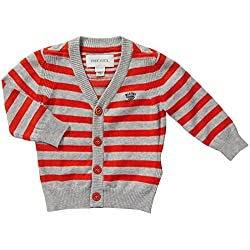Diesel Big Boys' Kiobob Striped Cardigan (Baby) - Orange - 9