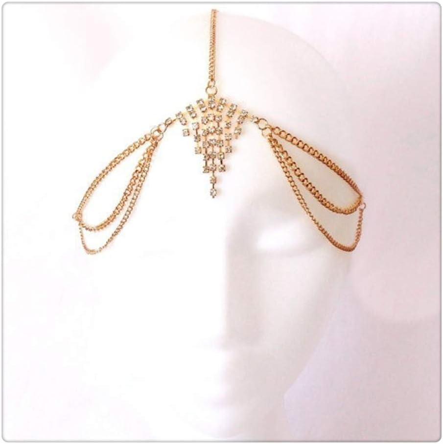 Z-one 1 Joyas de piedras preciosas con cabeza de diamante Cosplay Tribel Adornos de danza del vientre Head Chain Club nocturno Velo sexy
