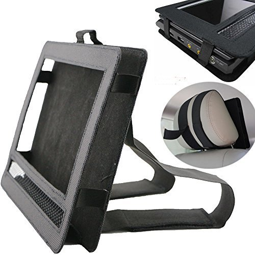 Car DVD Player Holder, Portable RevoLity 7-10.5 Inch Car DVD Headrest Mount Holder Strap Case Color Black (10-10.5 Inch) by RevoLity (Image #5)